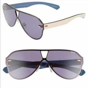 Quay Stay Afloat Aviator Sunglasses Black Smoke